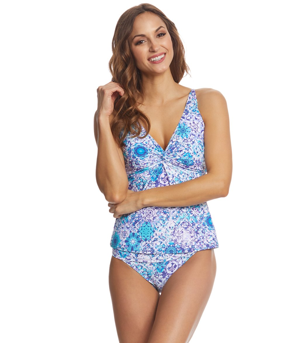 74007099605 Sunsets Odyssea Forever Tankini Top (D DD Cup) at SwimOutlet.com ...