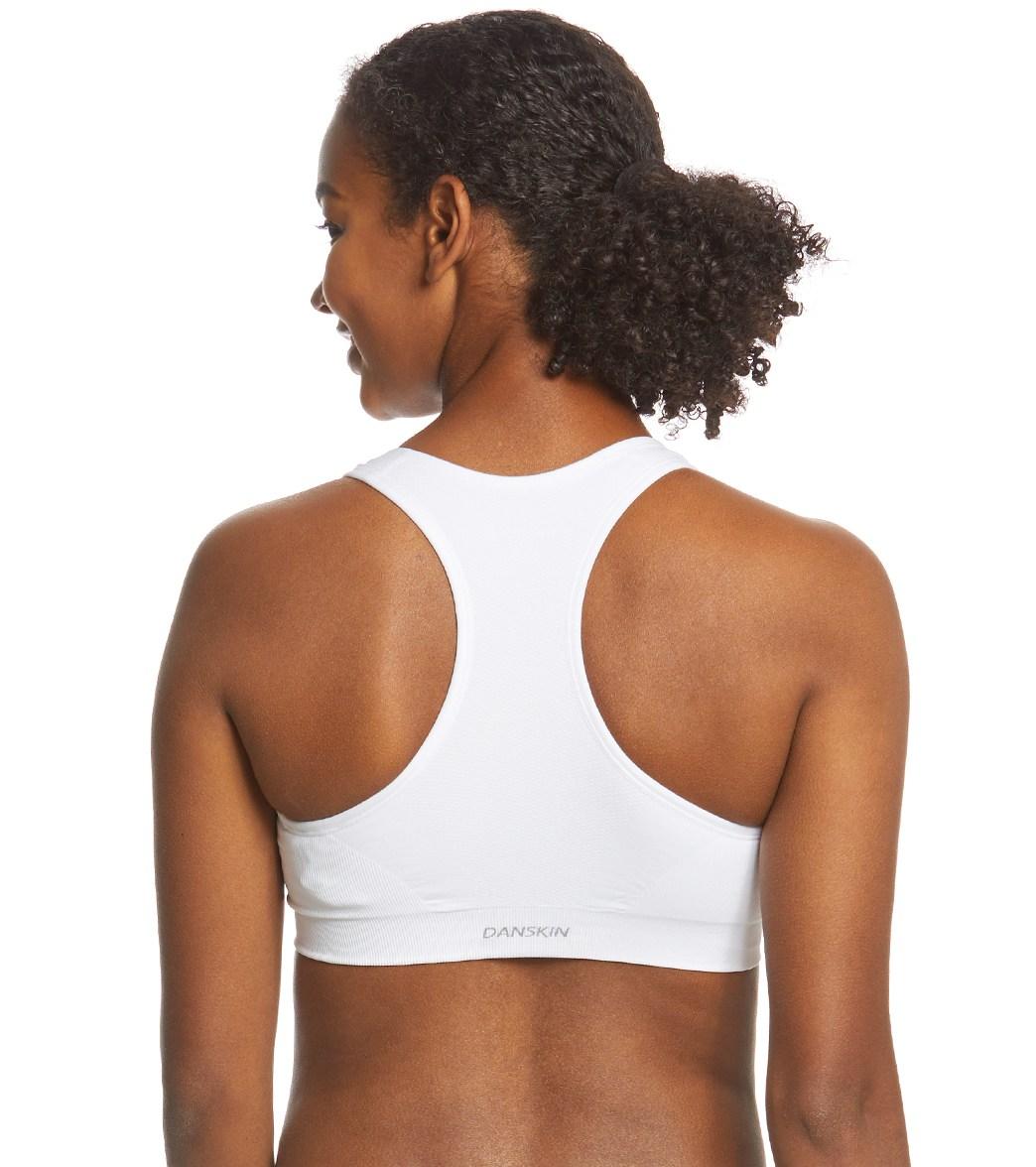 2443f2fc94760 Danskin Zip Front High Impact Seamless Yoga Sports Bra at YogaOutlet.com