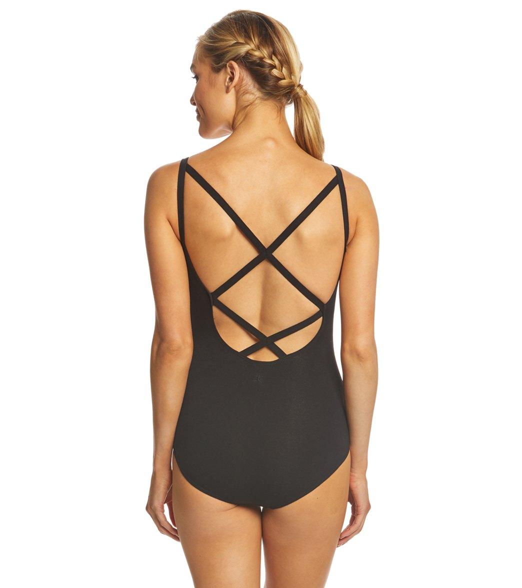f46a1f680e514 Danskin Cross Back Cami Yoga   Dance Leotard at YogaOutlet.com