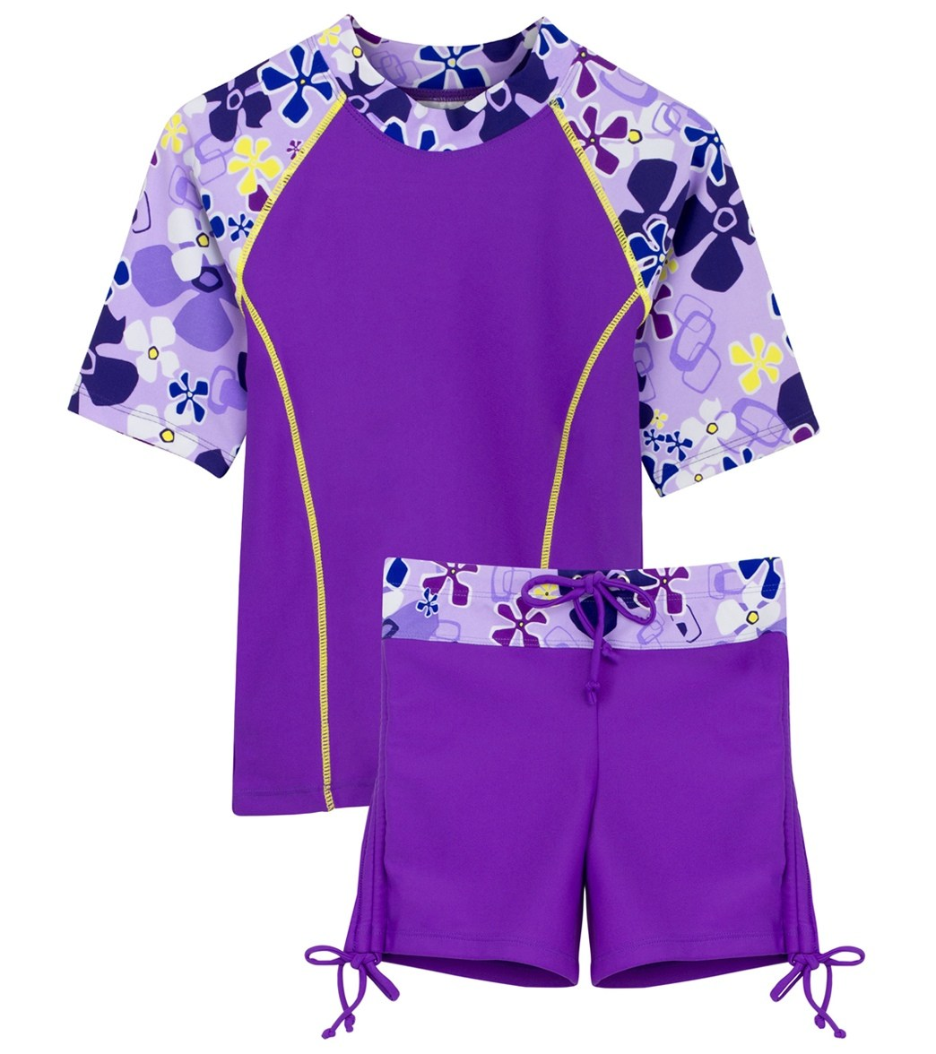 cde63fa90d Tuga Surfer Girl 2 Piece Rash Guard Set (4 yrs-14 yrs) at SwimOutlet.com