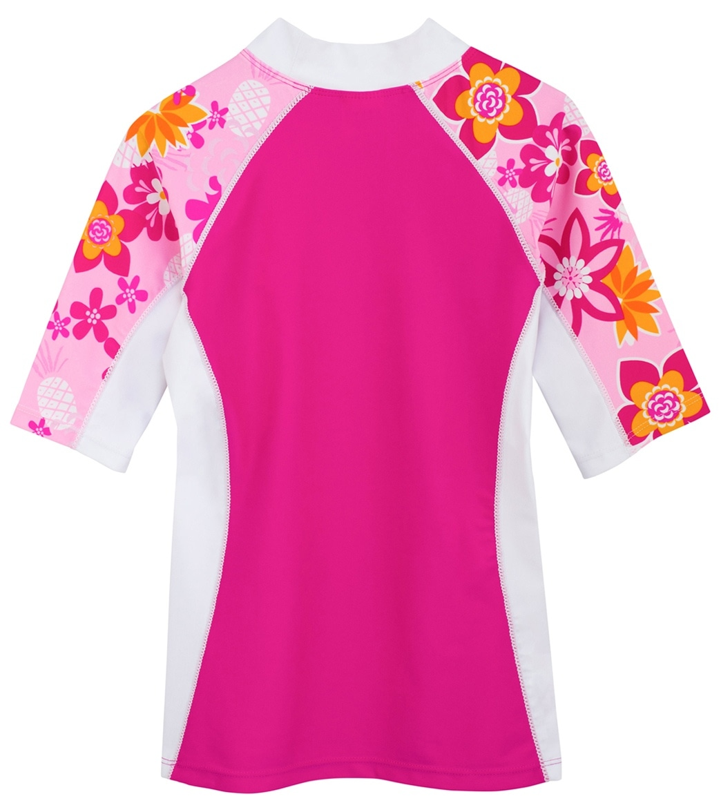 60c80762c60 Tuga Girls' Tropical Punch Seaside Short Sleeve Rash Guard (Toddler, Little  Kid, Big Kid) at SwimOutlet.com