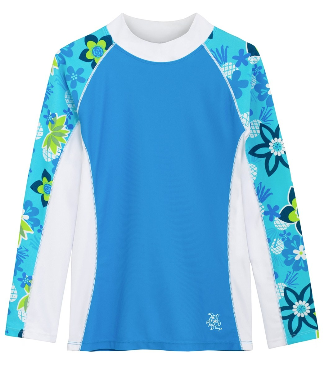 87b5bcb018 Tuga Girls  Shoreline Long Sleeve Rash Guard (6 mo-14 yrs) at SwimOutlet.com