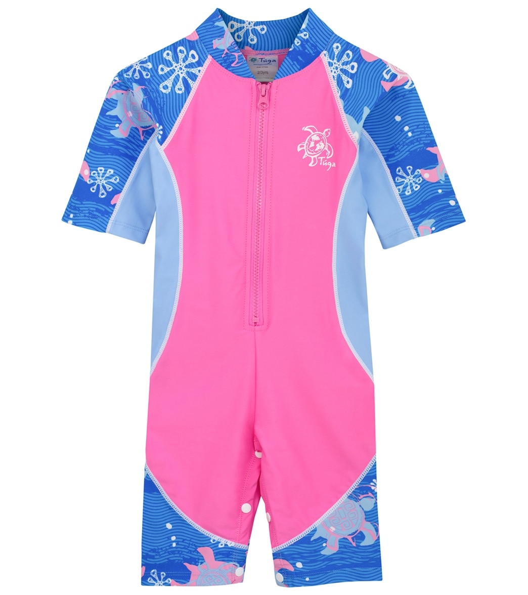 3f0cdca662 Tuga Girls' Low Tide Short Sleeve Sunsuit (Baby, Toddler, Little Kid) at  SwimOutlet.com