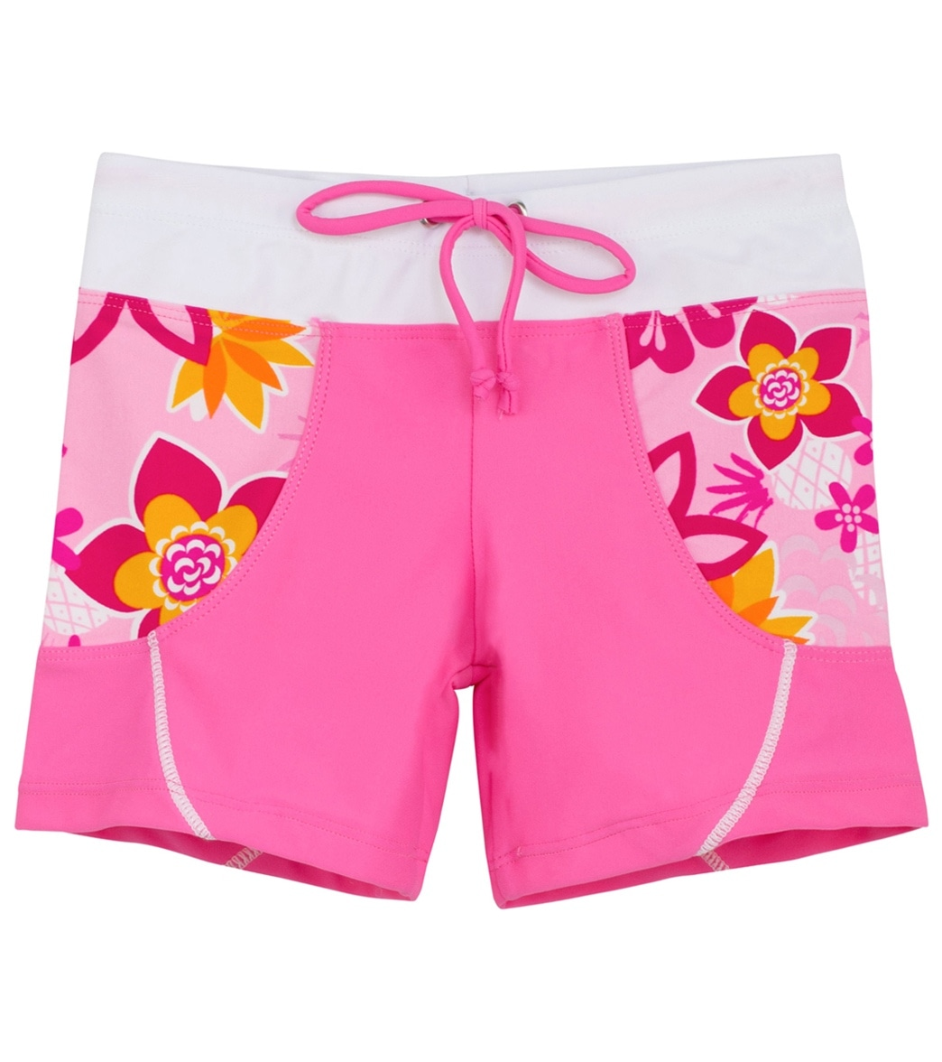 0175914069 Tuga Girls' Tropical Punch Shorts (Toddler, Little Kid, Big Kid) at  SwimOutlet.com