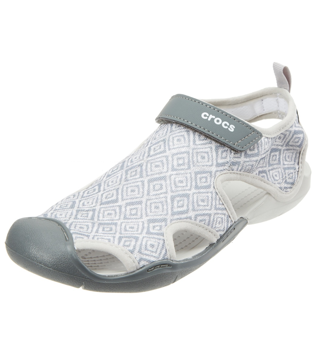 ab6c3c01261b00 Crocs Women s Swiftwater Graphic Mesh Sandal at SwimOutlet.com - Free  Shipping