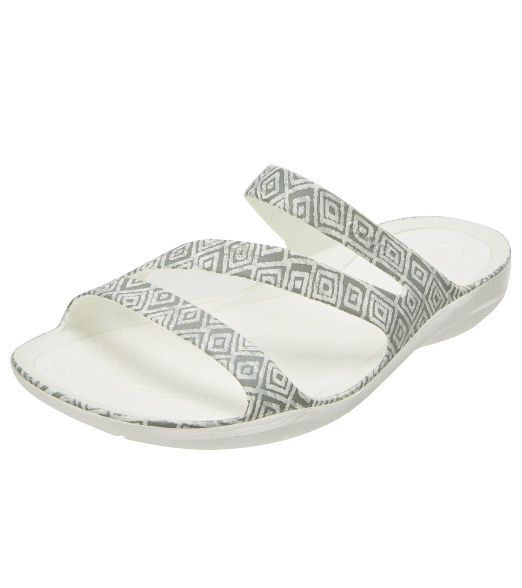 d1f4e277395499 Crocs Women s Swiftwater Graphic Sandal at SwimOutlet.com