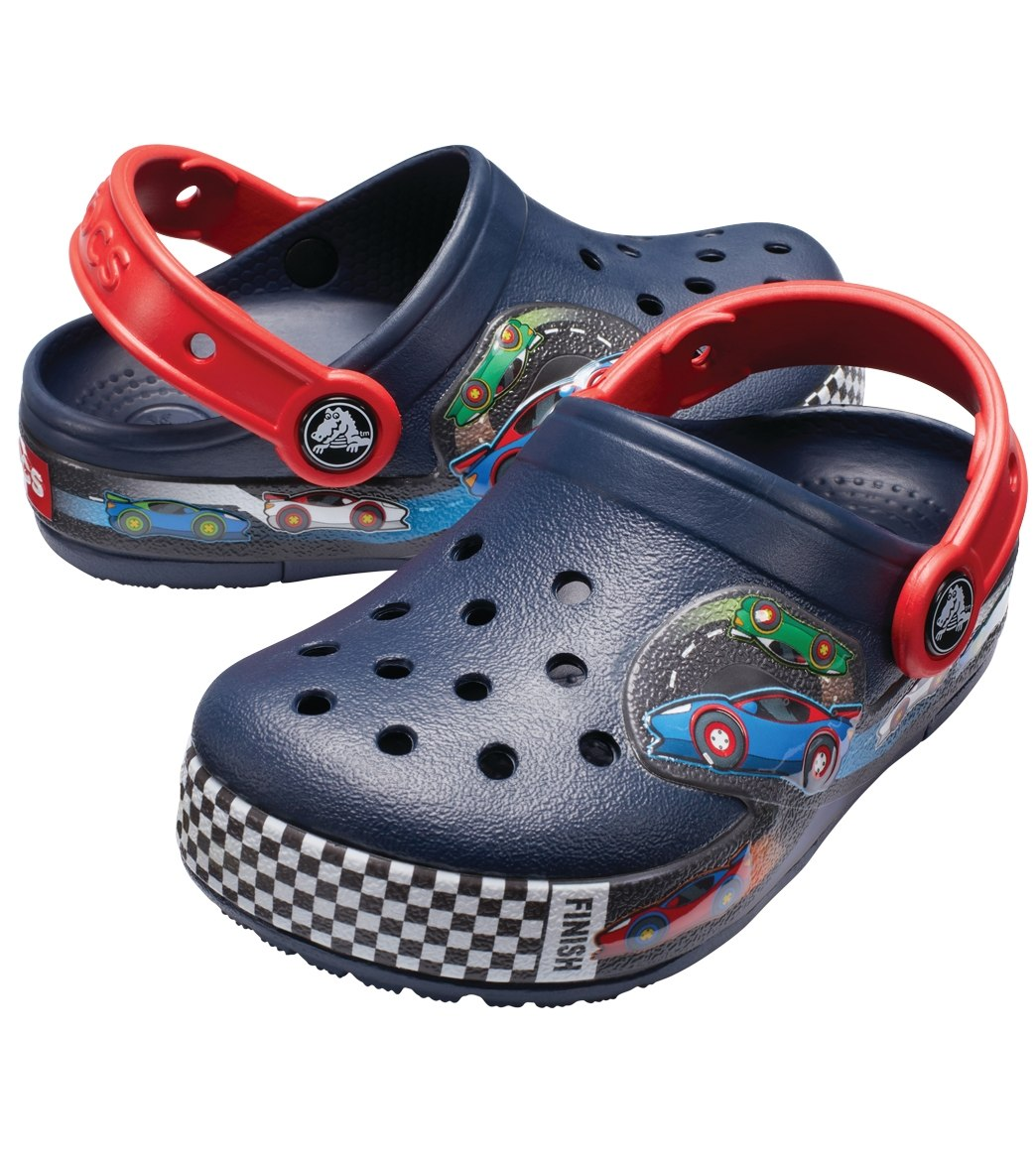 bd695c5cabaa Crocs Boys  Crocband Fun Lab Lights Clog (Toddler