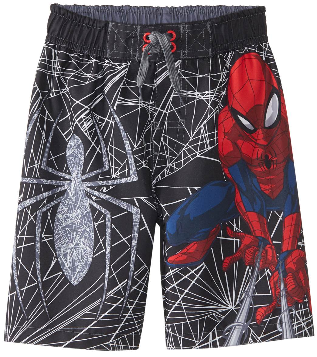 b8dc8ed4d4 Disney Boys' Spiderman Swim Trunk (Little Kid) at SwimOutlet.com