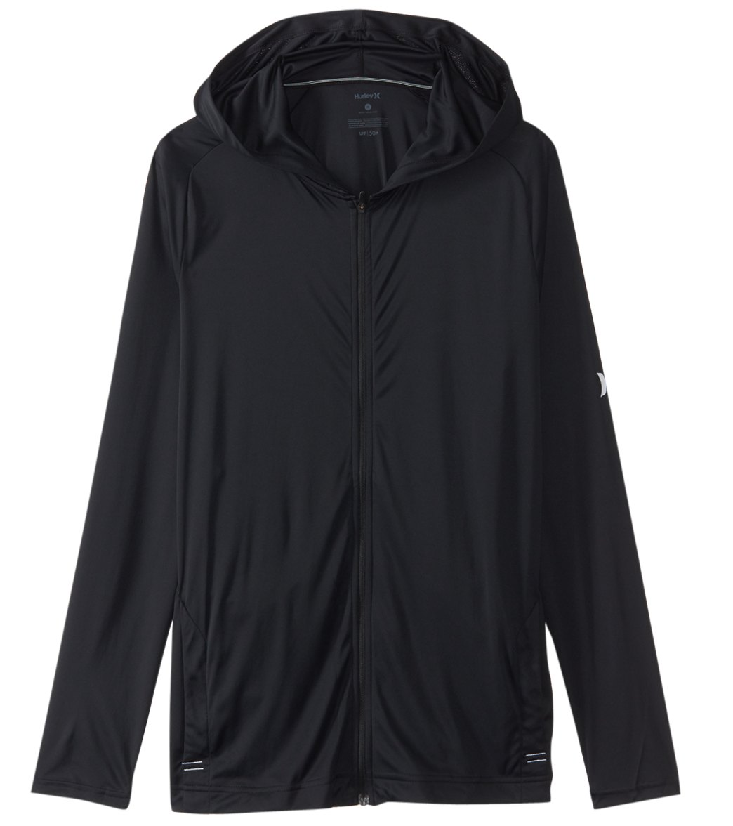 0881a89c Hurley Men's Icon Quick Dry Front Zip Hooded Long Sleeve Surf Shirt at  SwimOutlet.com