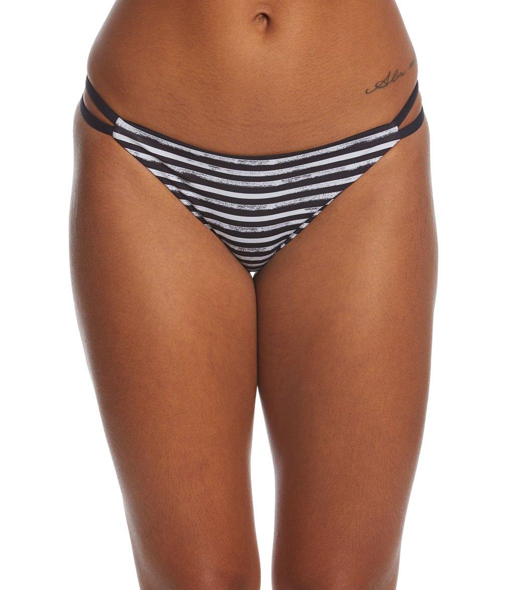 Black Hurley Women Q//D Surf Swim Bottom Small