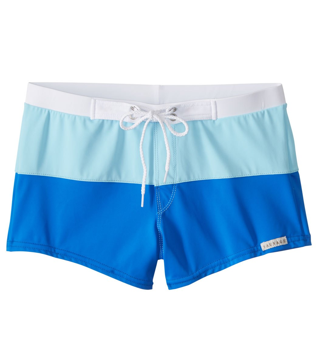 d3bd1b8513 Sauvage Splice Retro Swim Trunks at SwimOutlet.com - Free Shipping