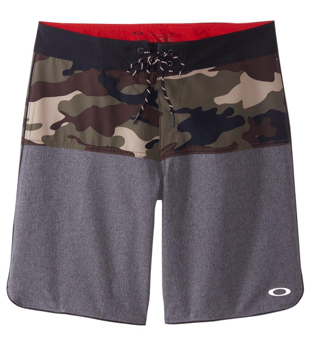 Camo Block Oakley 19u0022 Slim Boardshort Men's Fit PZukXiOT