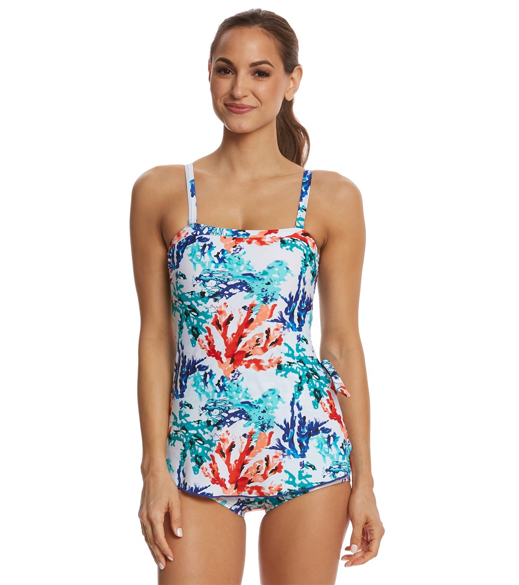 3d7a84420e Ceeb Sea Coral Bandeau Sarong One Piece Swimsuit at SwimOutlet.com - Free  Shipping