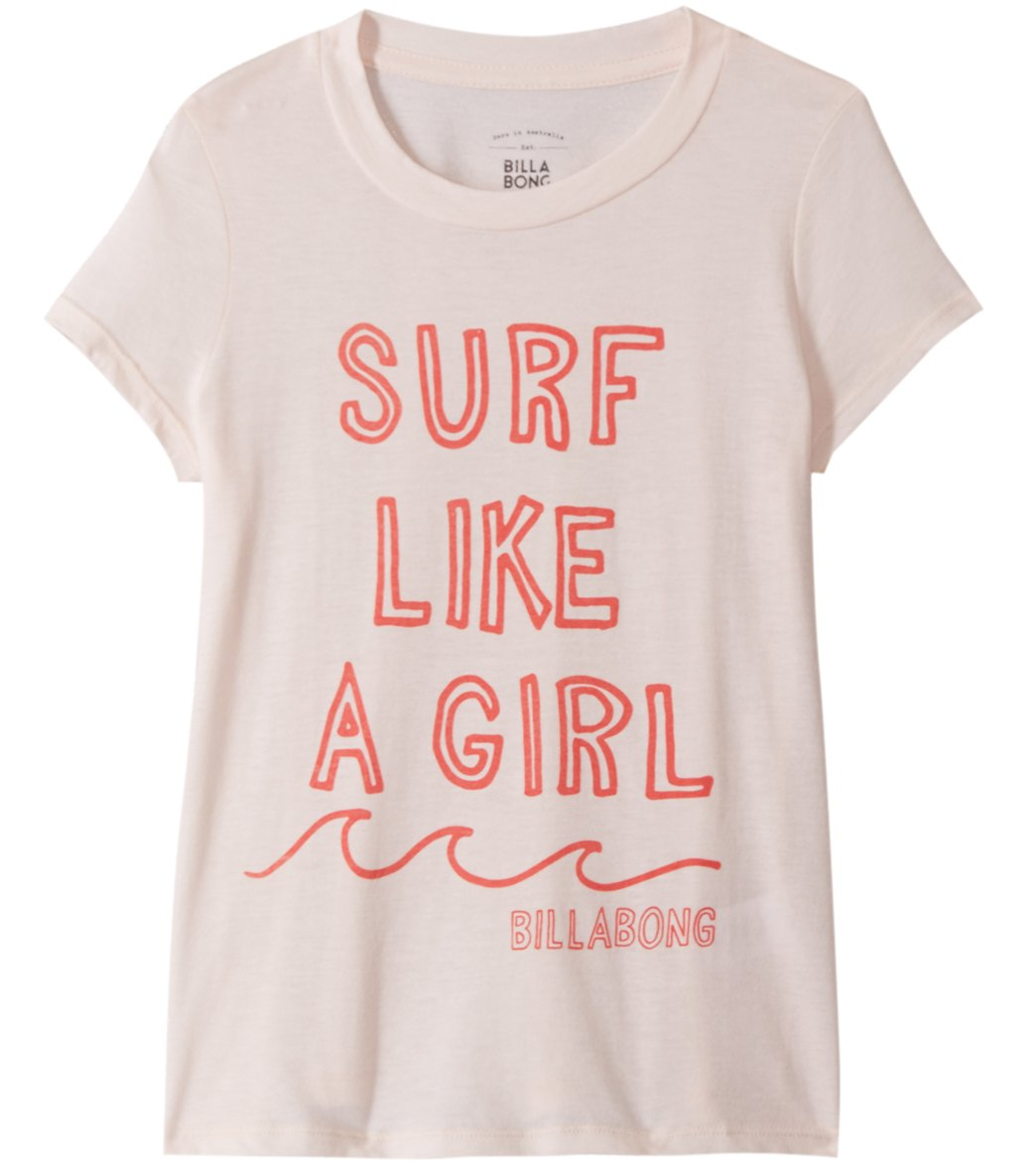 4cce8412fa Billabong Girls' Surf Like a Girl Tee Shirt (Little Kid, Big Kid) at  SwimOutlet.com - Free Shipping