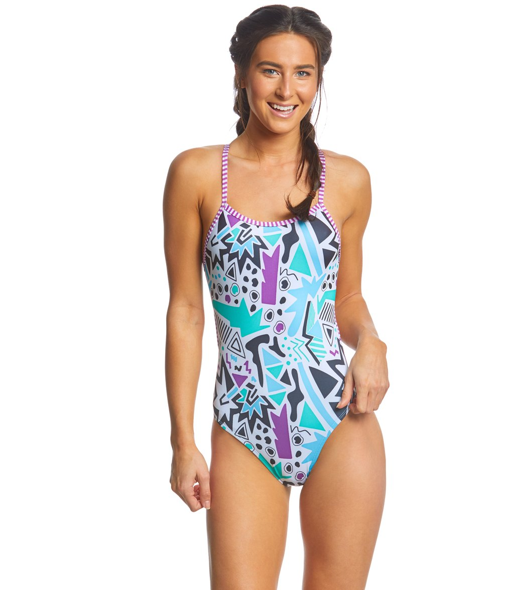 0f16f3fc57a55 ... Dolfin Uglies Women's Push Play String Back One Piece Swimsuit. Play  Video. MODEL MEASUREMENTS