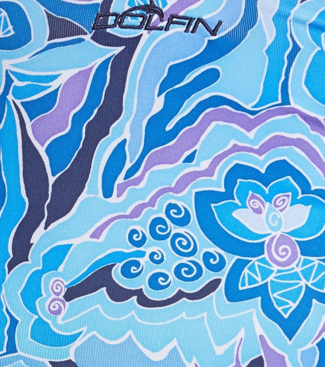 Dolfin Aquashape Women S Iris Blue Color Block Swimdress