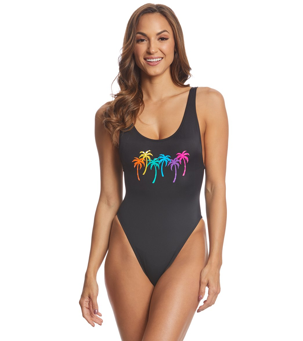 b2d04df35a148 Coco Rave Rainbow Bright Pamela High Leg One Piece Swimsuit at  SwimOutlet.com - Free Shipping
