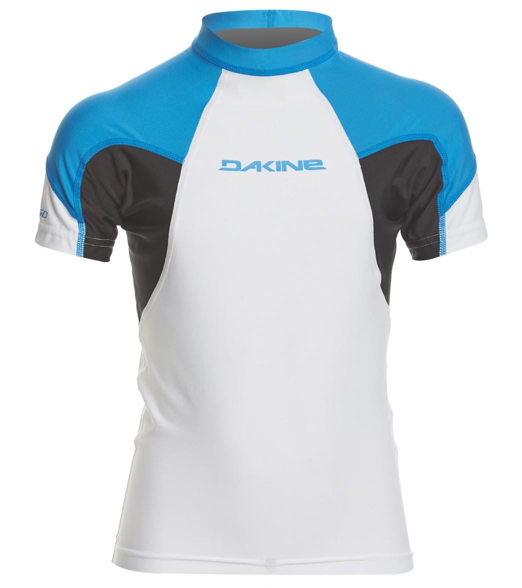 e2aaeb5bb5 Dakine Boys' Heavy Duty Snug Fit Short Sleeve Rashguard at SwimOutlet.com