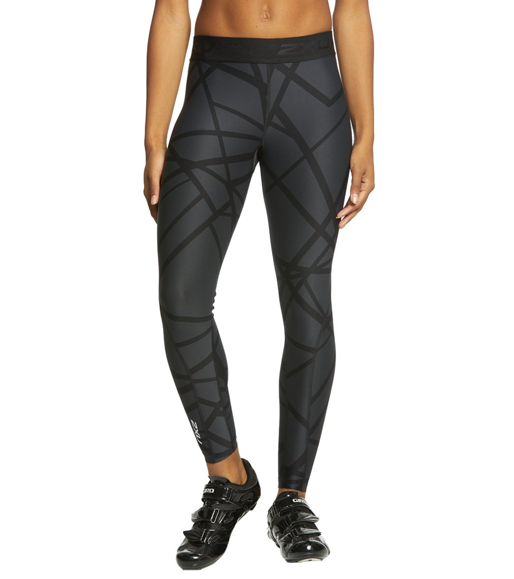 3dd4de98 2XU Women's Print Accelerate Compression Tights at SwimOutlet.com - Free  Shipping