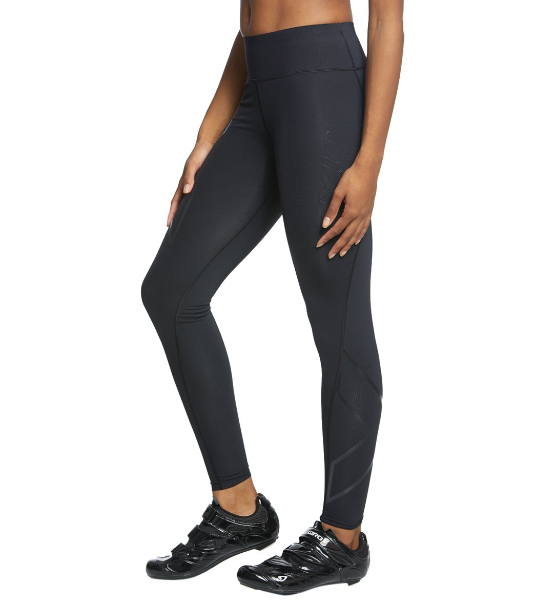 98999b626b272 2XU Women's Bonded Mid-Rise Tights at SwimOutlet.com - Free Shipping