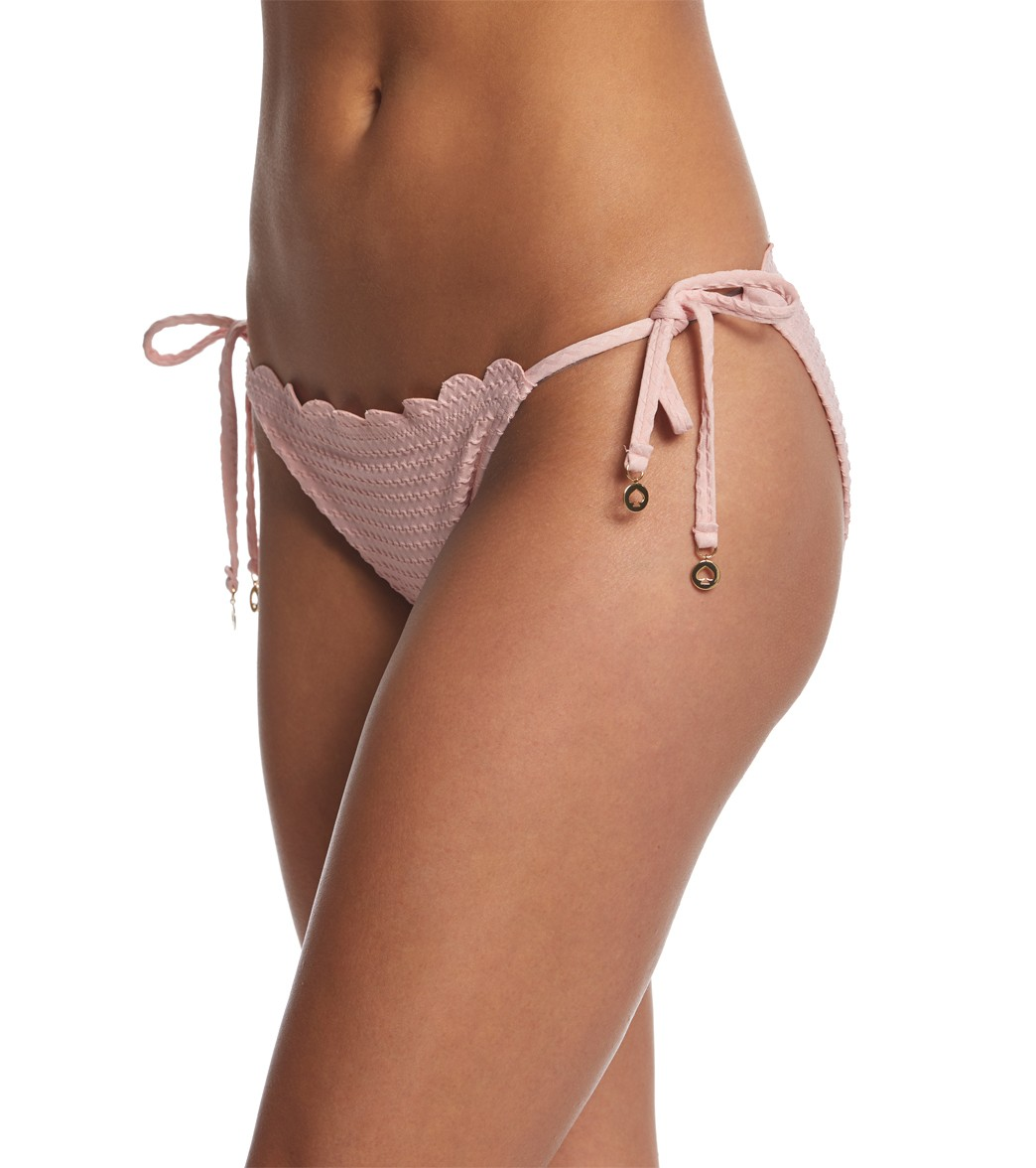 b4f4b31ac6 Kate Spade New York Marina Piccola Textured Scallop String Bikini Bottom