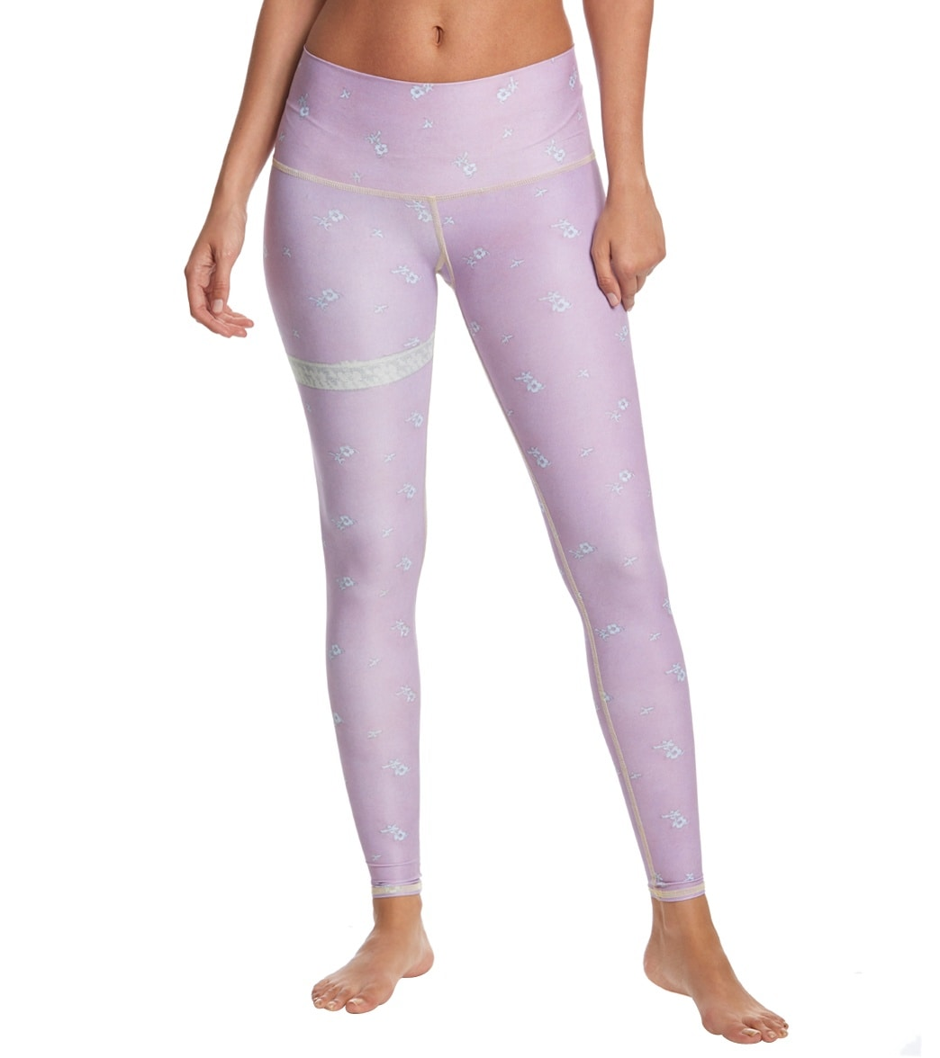 0b77285a9f Teeki Marry Me Purple Hot Yoga Pants at YogaOutlet.com - Free Shipping