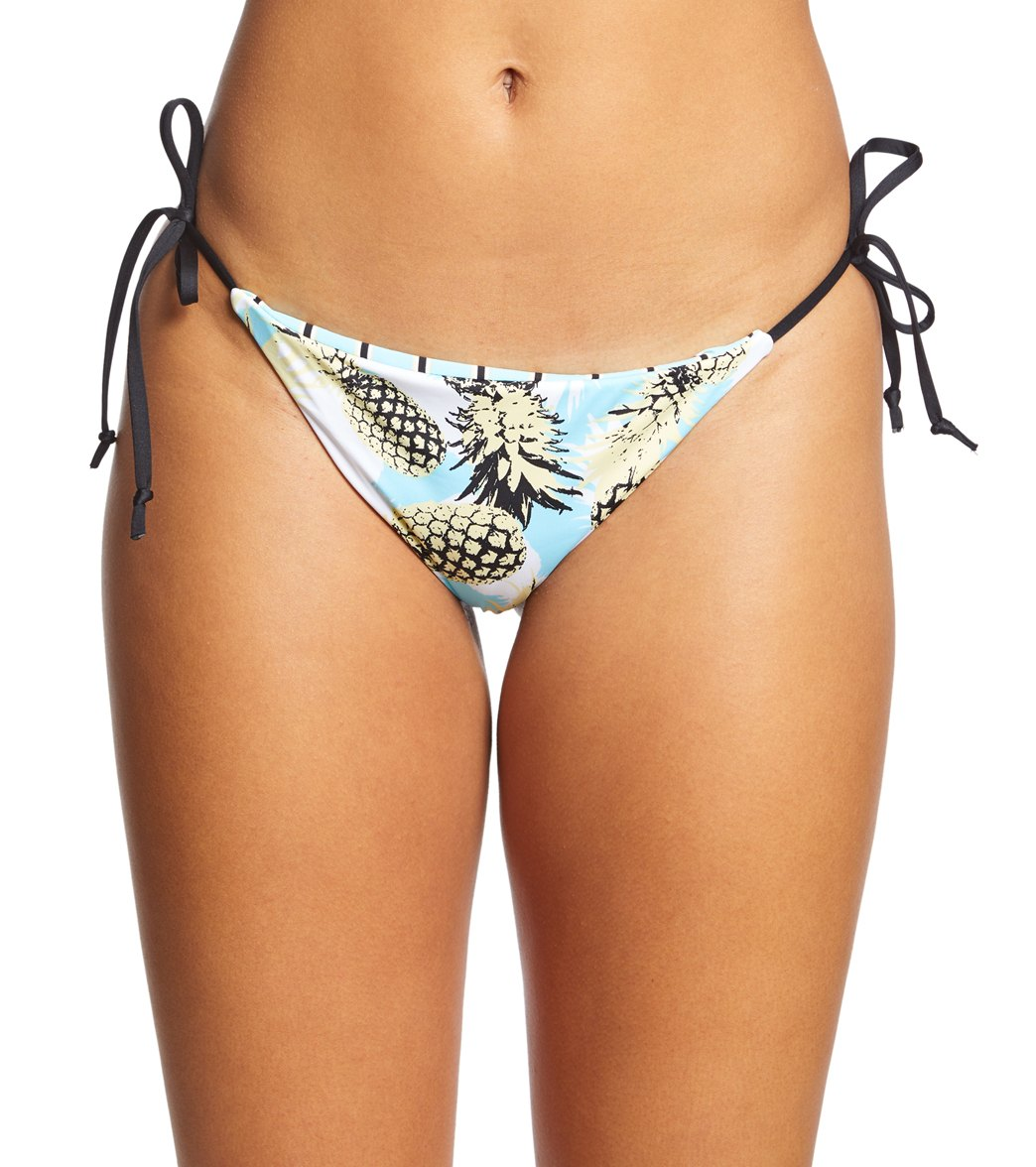 26252949cdd Bikini Lab Pineapple Playa Reversible String Tie Side Bikini Bottom at ...