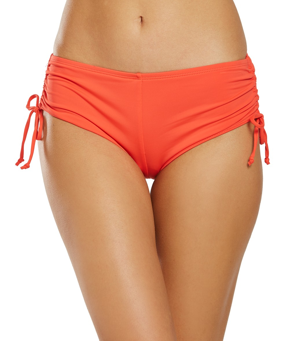 8811b682f0 Hobie Solid Cinched Boy Shorts at SwimOutlet.com
