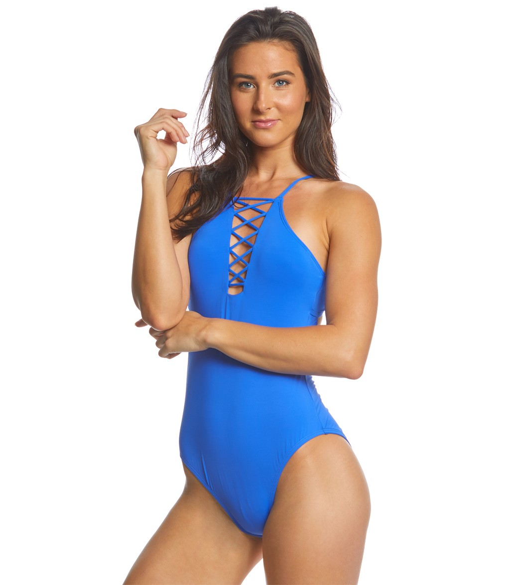 17205e10d9 Hobie Solid One Piece Swimsuit at SwimOutlet.com - Free Shipping