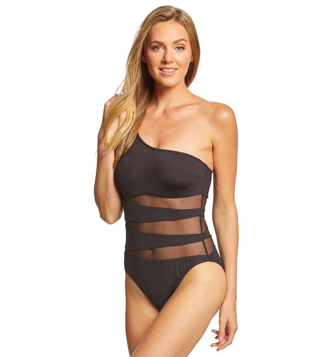 580c719028c Kenneth Cole Sexy Solid One Shoulder One Piece Swimsuit at ...
