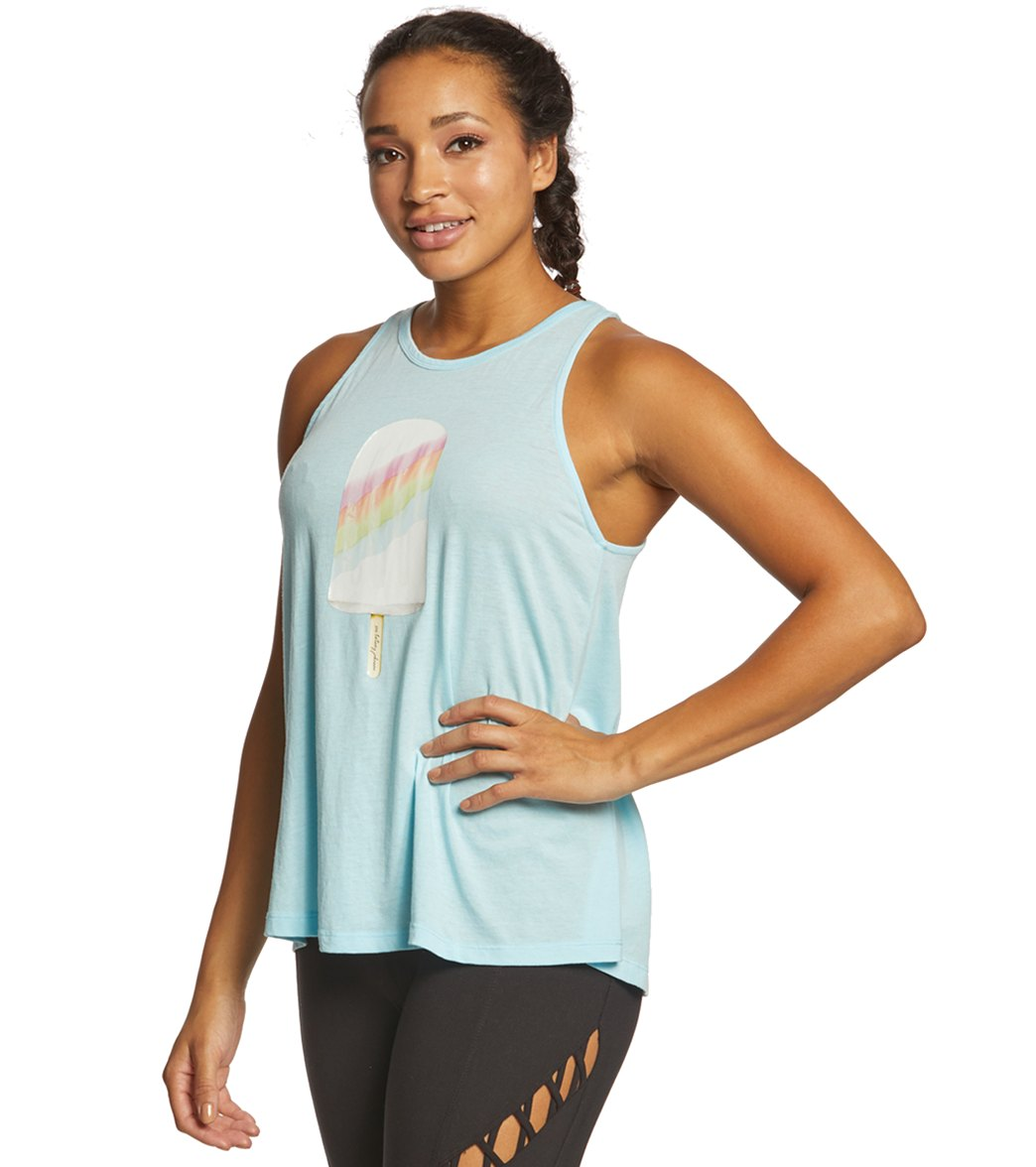 93f5ba8d696f4 Betsey Johnson Performace Rainbow Ice Cream Swing Tank at YogaOutlet.com