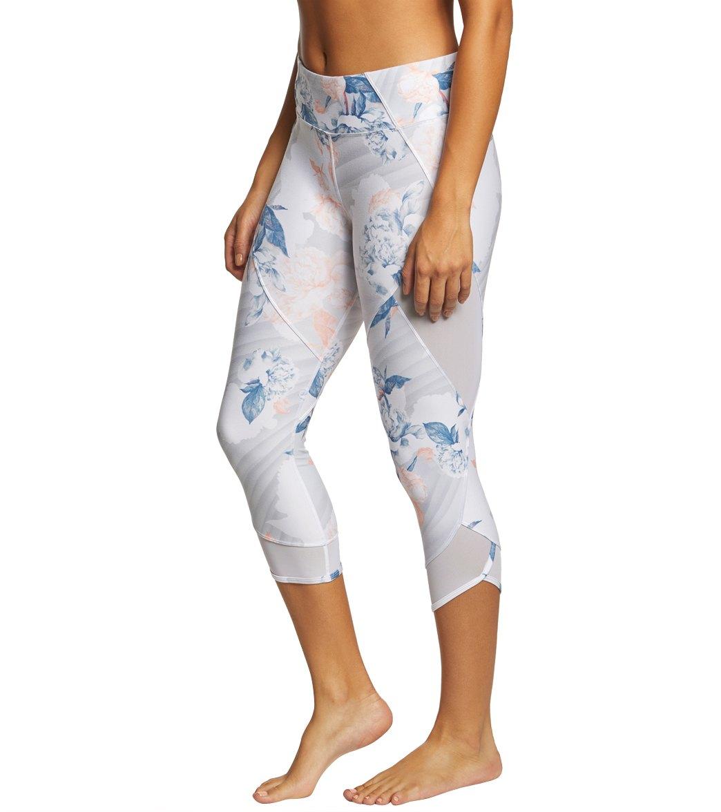 3eccf695123da Betsey Johnson Performance Mesh Insert Printed Yoga Capris at ...
