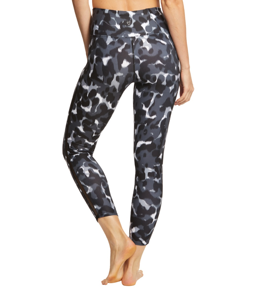 37aeb0b716983 Betsey Johnson Performance Printed Mesh Trim 7/8 Yoga Leggings at ...