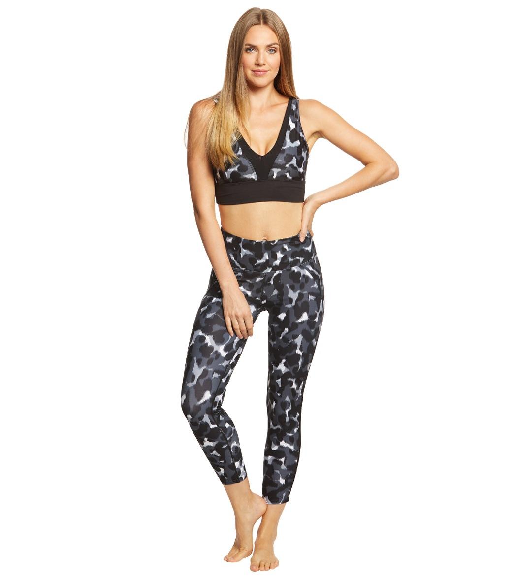 2a5d82e9472ec Betsey Johnson Performance Printed Mesh Trim 7/8 Yoga Leggings at ...
