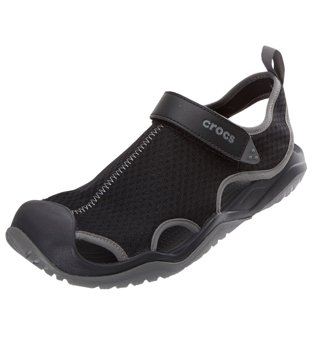 32d960be9406 Crocs Swiftwater Mesh Deck Sandal at SwimOutlet.com - Free Shipping