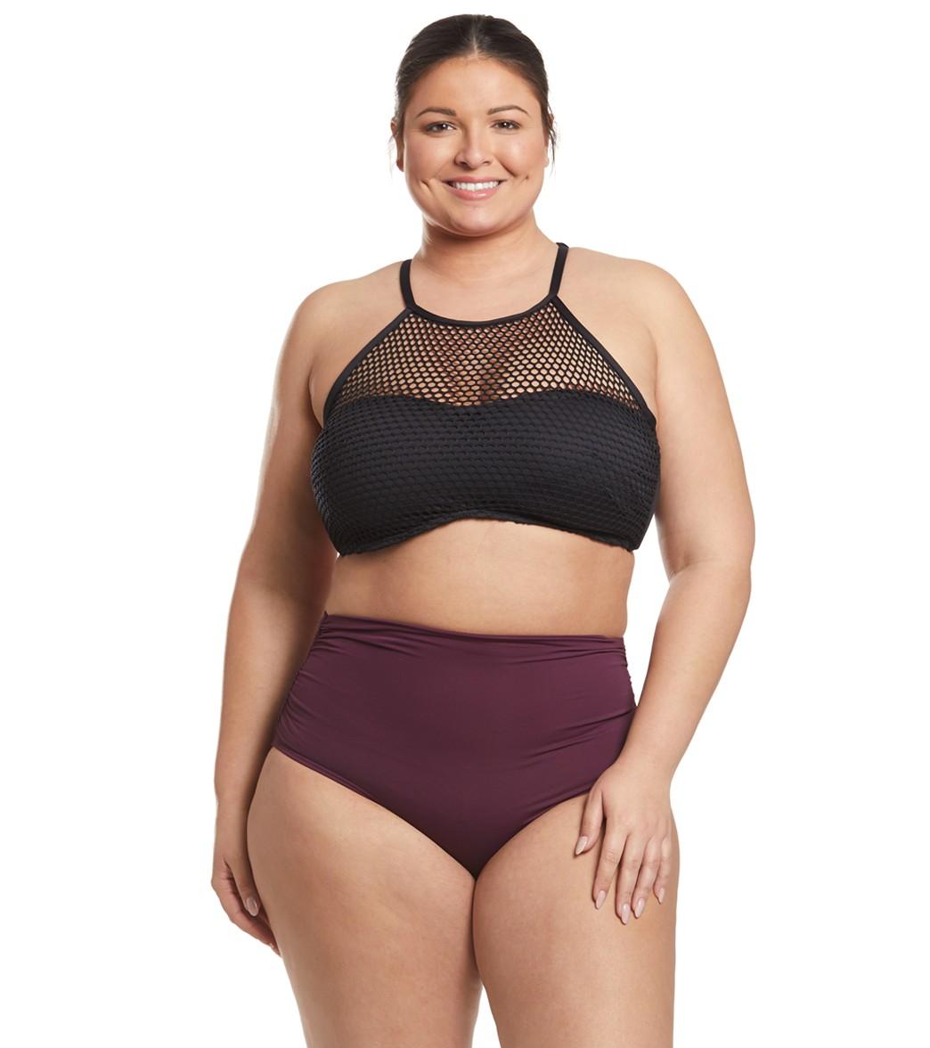 1cdc4c697f Anne Cole Plus Size Live In Color Shirred High Low Bikini Bottom at ...