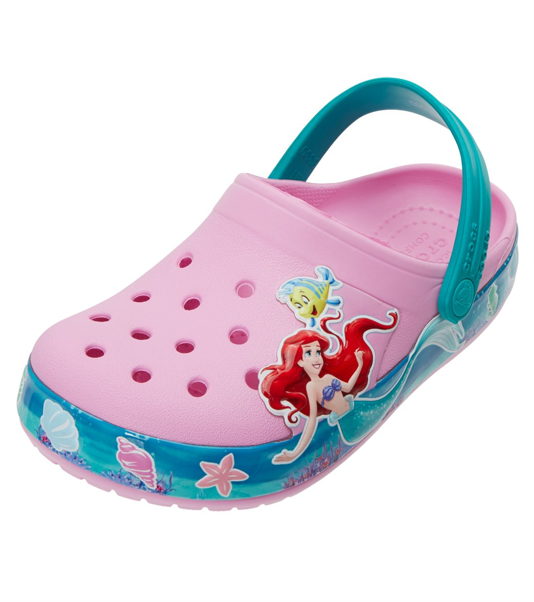 2dfc1883b Crocs Kids  Crocband™ Princess Ariel™ Clogs (Toddler
