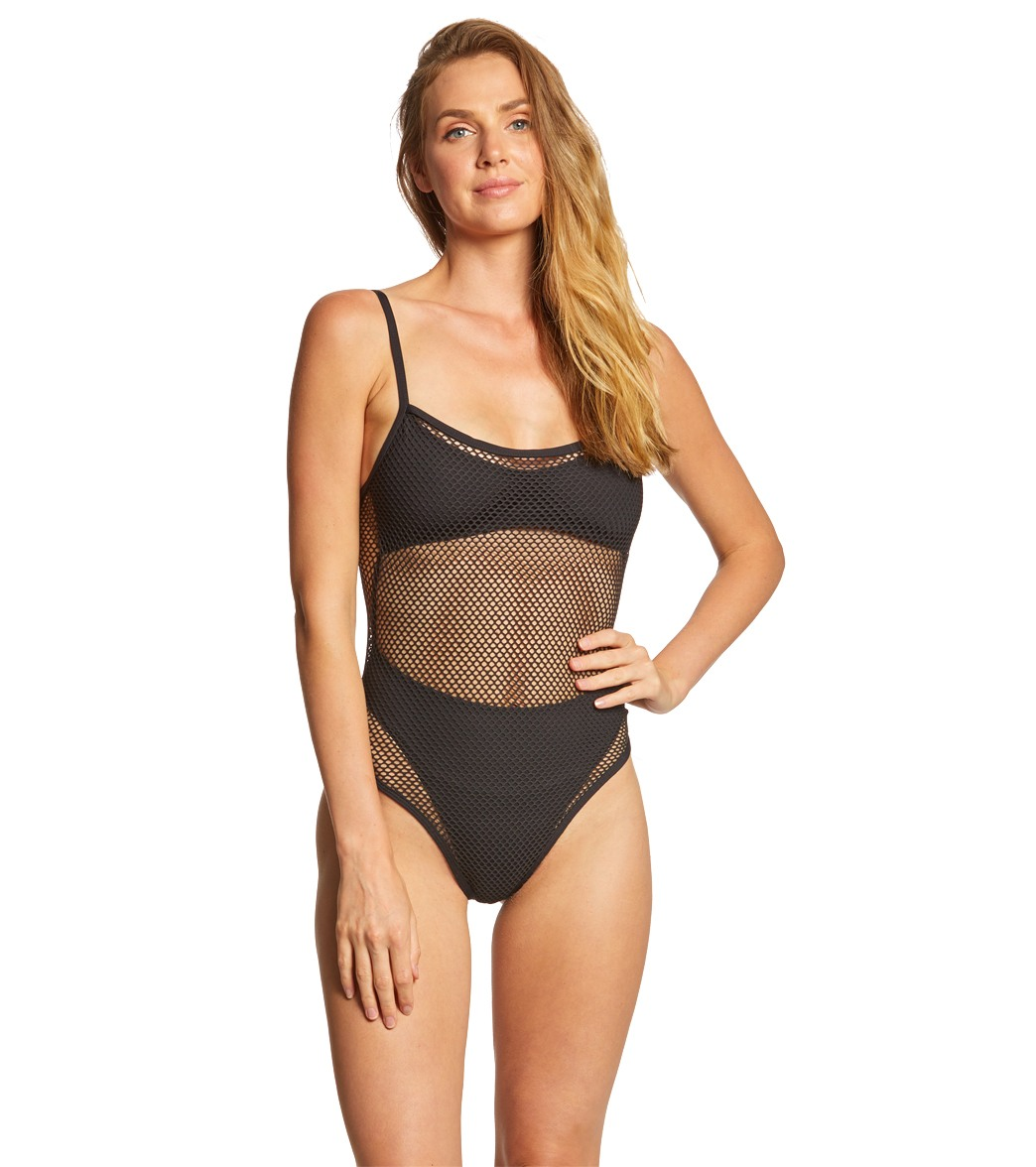 307d5207bf4 L-Space Mesh Madness One Piece Swimsuit at SwimOutlet.com - Free Shipping