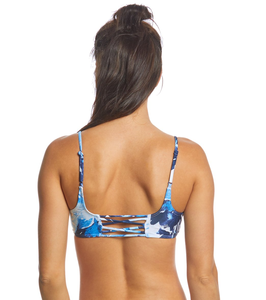 722742c948 RVCA Women s Paint Flower Bralette Bikini Top at SwimOutlet.com