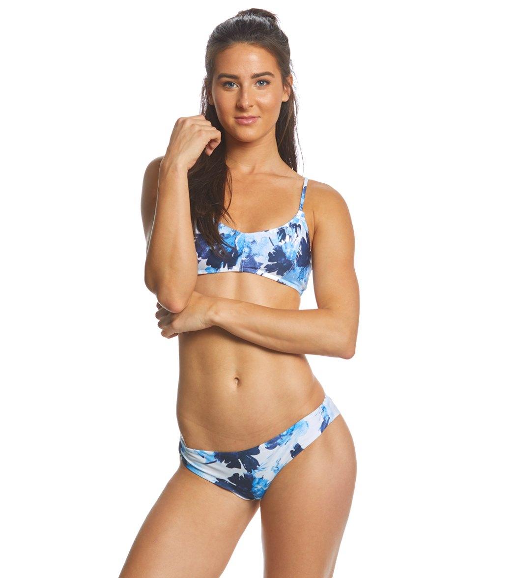 d3150eb6f9d1a RVCA Women s Paint Flower Bralette Bikini Top at SwimOutlet.com