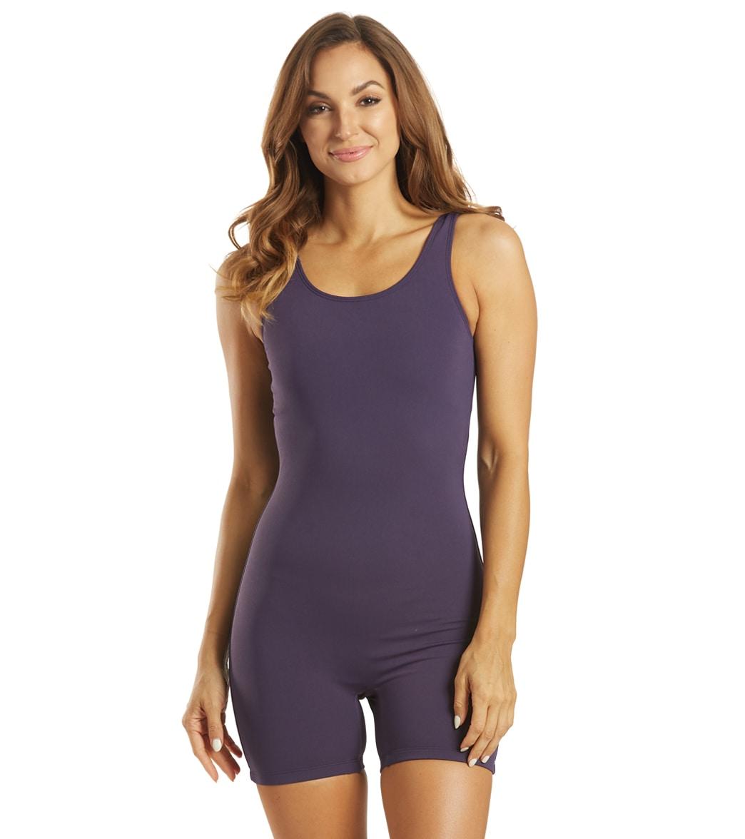 Sporti Lia Chlorine Resistant Scoop Back Unitard One Piece Swimsuit