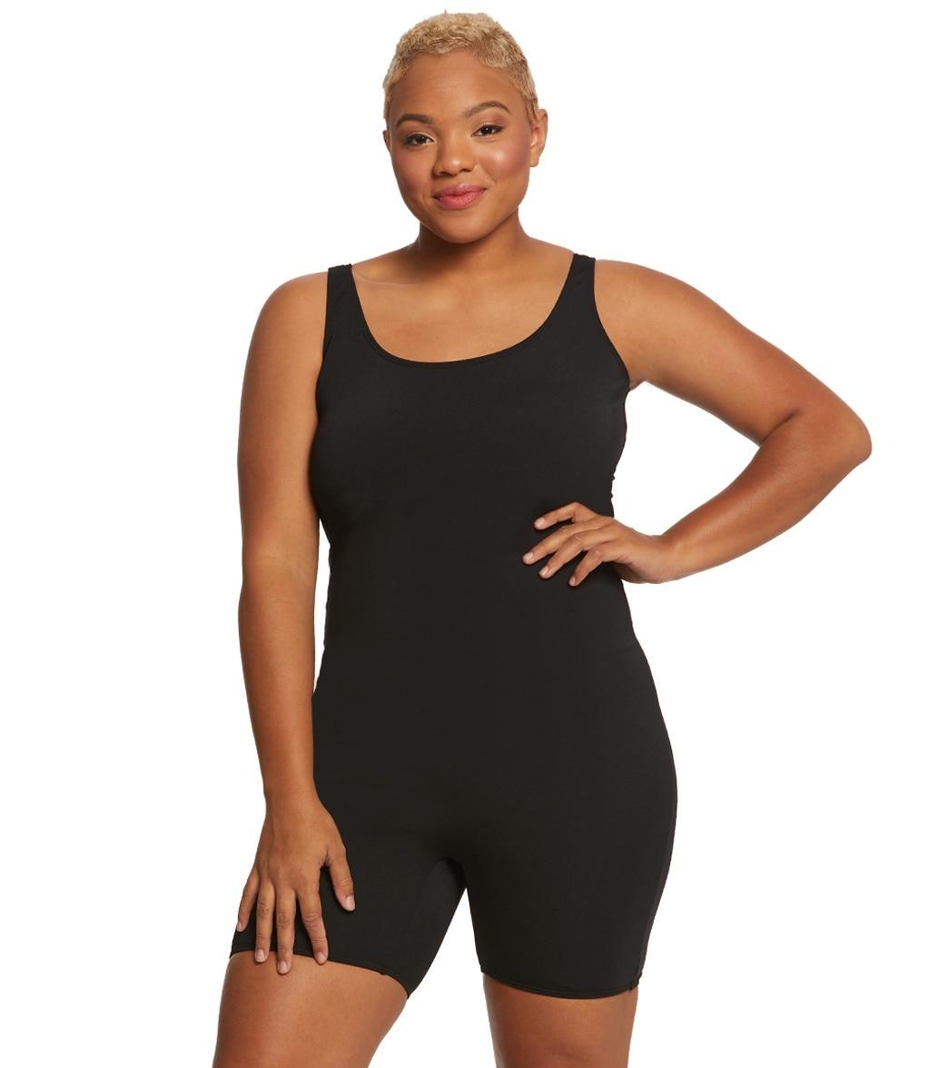 aaea122ad9 Sporti Plus Size Lia Chlorine Resistant Scoop Back Unitard One Piece  Swimsuit at SwimOutlet.com