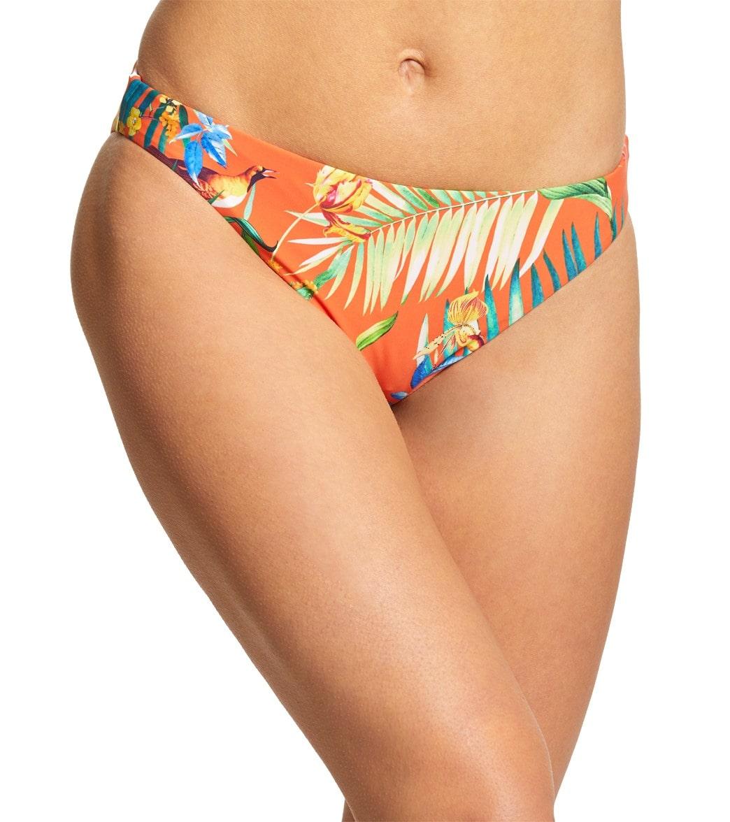 Lucky Brand Lush Leaf Reversible Hipster Bikini Bottom