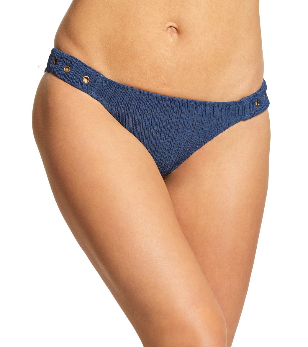 Lucky Brand Havana Solid Side Tab Hipster Bikini Bottom