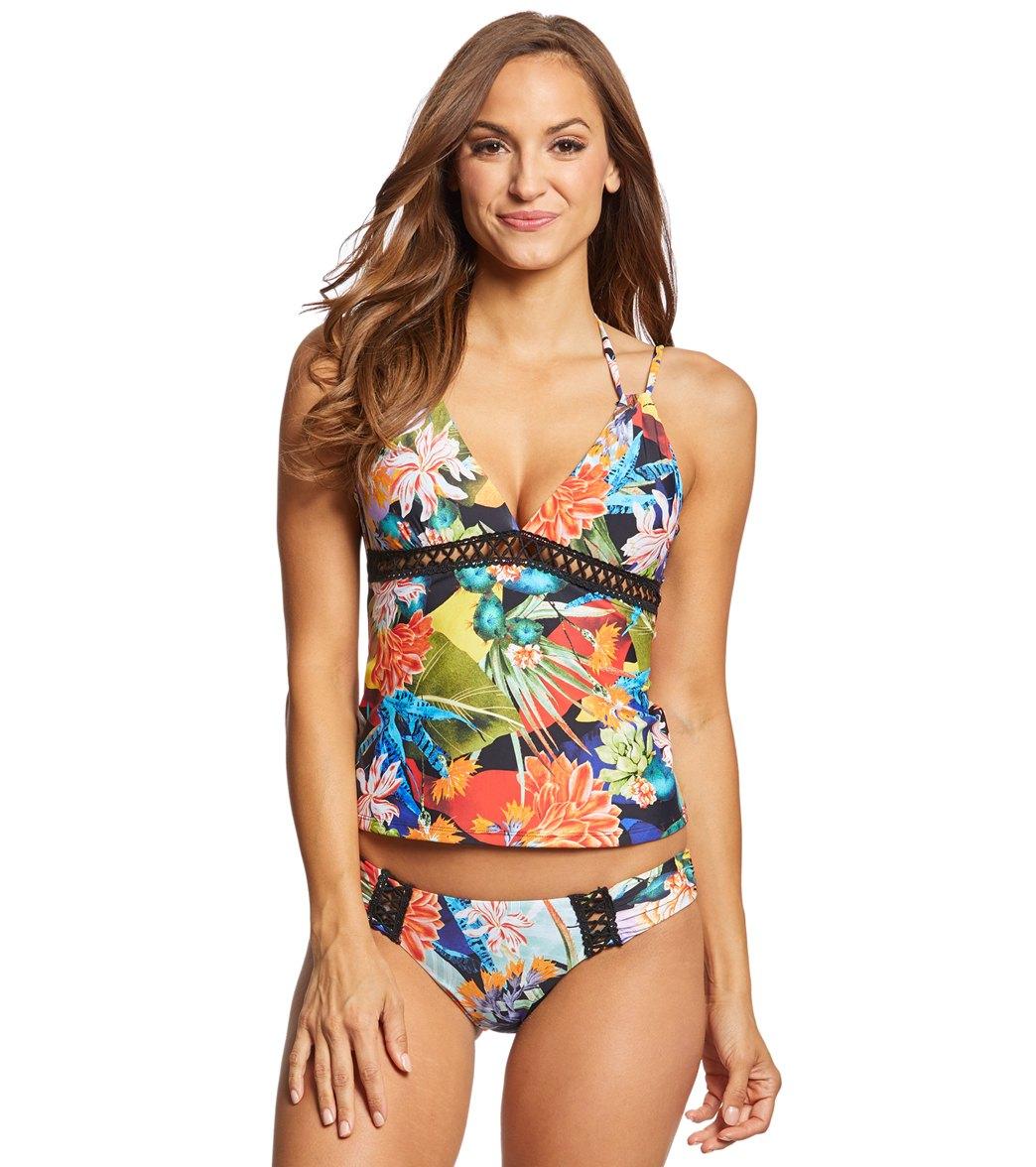 d765b1bfa76 Lucky Brand Malibu Canyon Tankini Top at SwimOutlet.com - Free Shipping