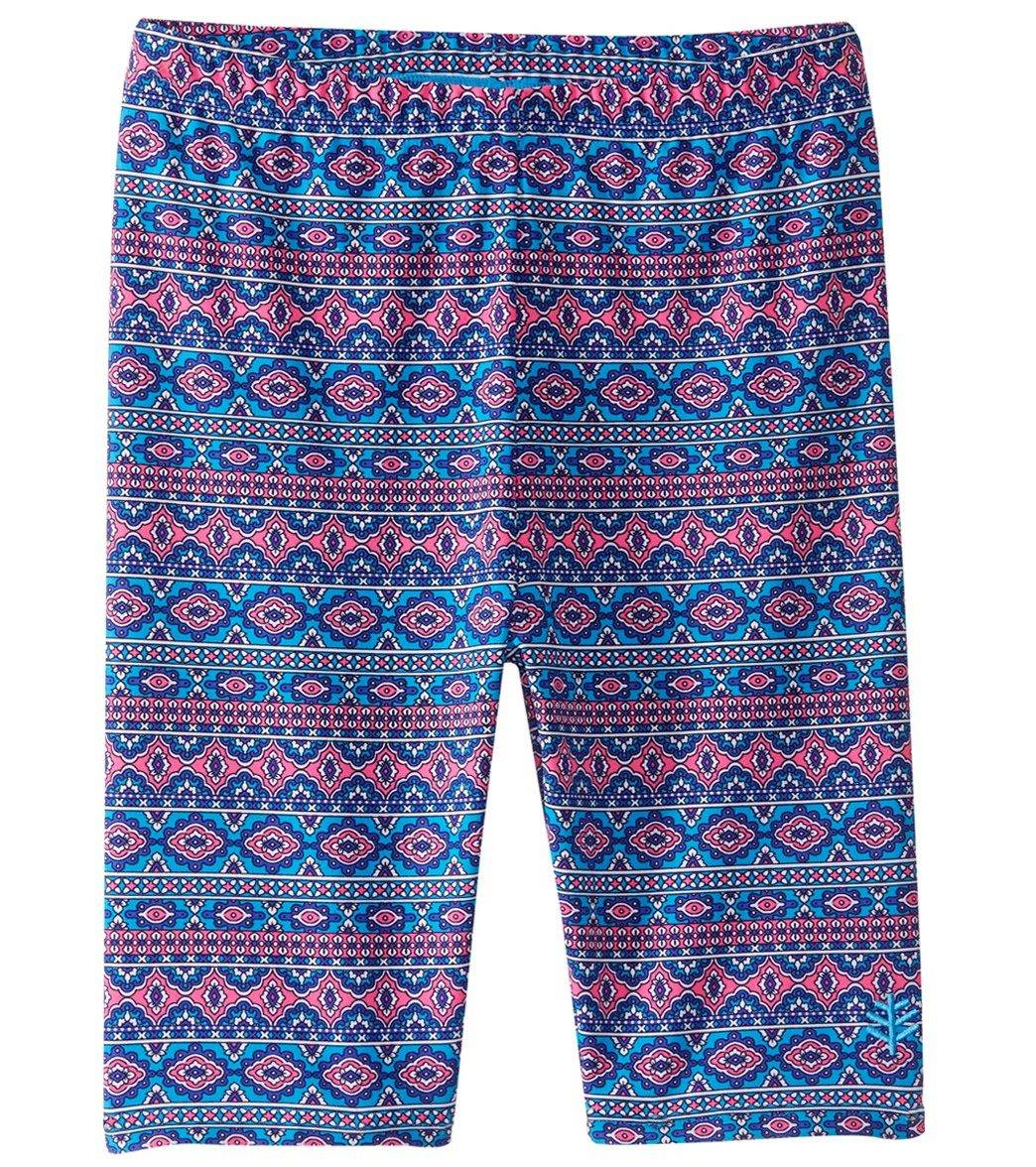 1f1c0c808d Coolibar Girls' UPF 50 Printed Swim Shorts at SwimOutlet.com