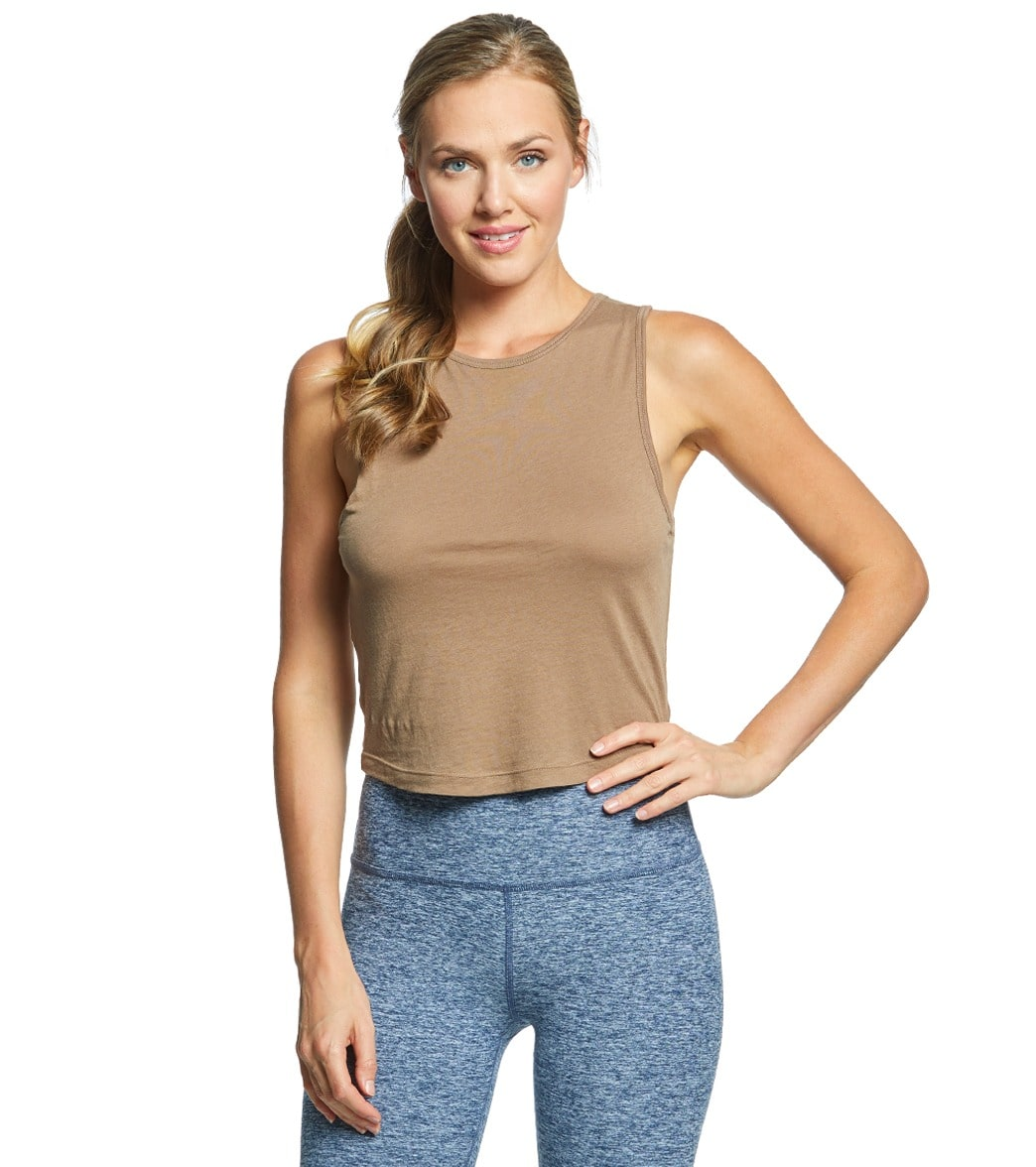 a99d2b17dc0730 Beyond Yoga Crossroads Reversible Cropped Tank at YogaOutlet.com