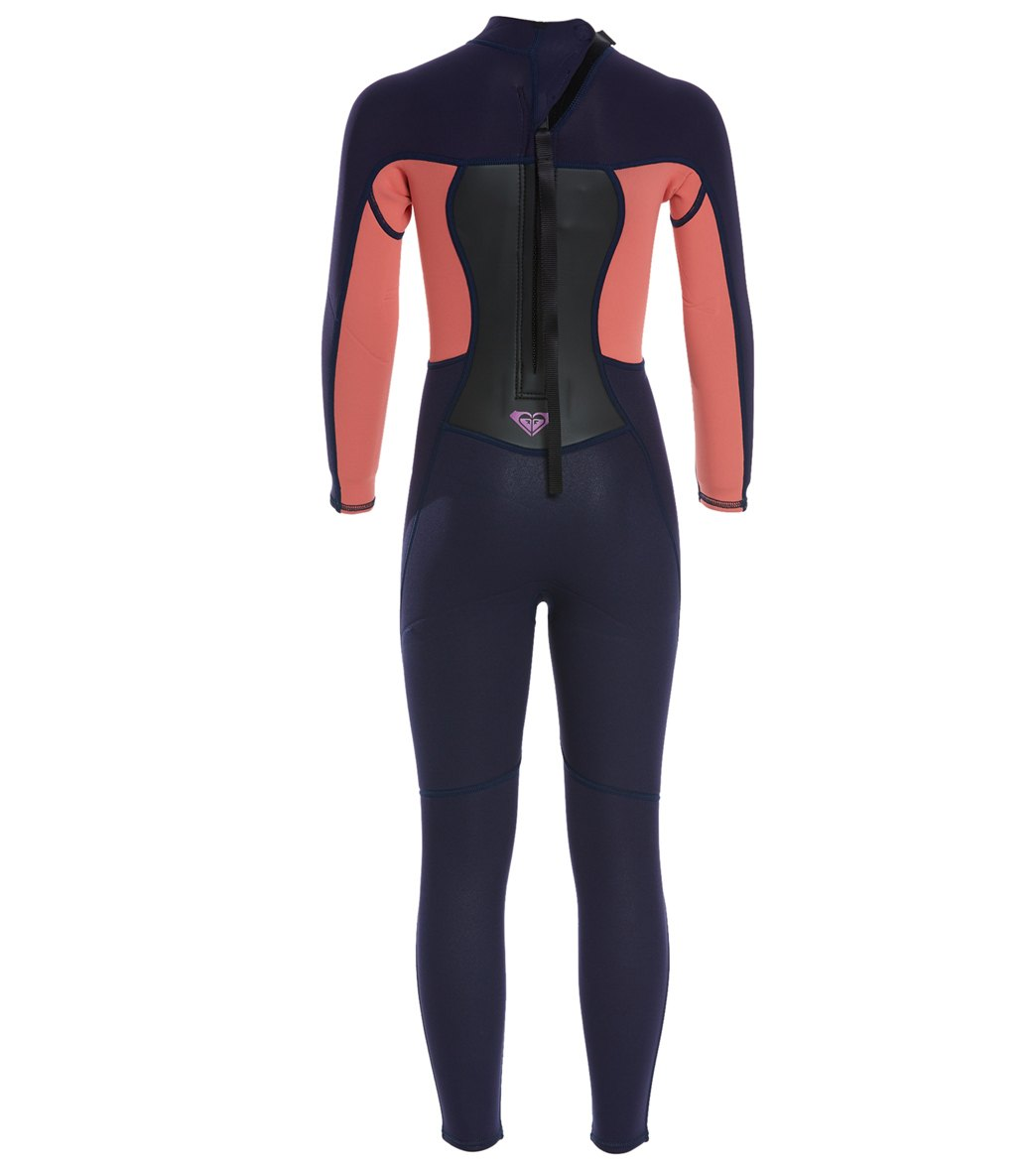 3048672123 Roxy Girls  3 2 Prologue Back Zip Fullsuit Wetsuit (Little Kid