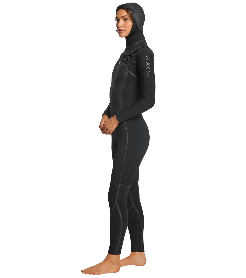 dcb040bef6978 Roxy Women s 5 4 3MM Syncro Plus Hooded Chest Zip Wetsuit at ...