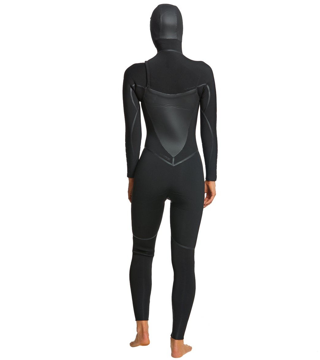 Roxy Women s 5 4 3MM Syncro Plus Hooded Chest Zip Wetsuit at ... 912781140